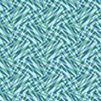 soft aqua double feather
