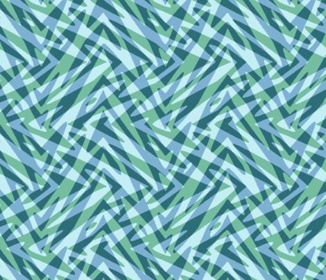 soft aqua double feather fabric by weavingmajor on Spoonflower - custom fabric