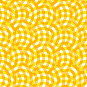 woven circles - dotgold