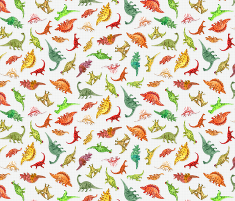 Dinosaur Party | Grey Grid Background fabric by imaginaryanimal on Spoonflower - custom fabric