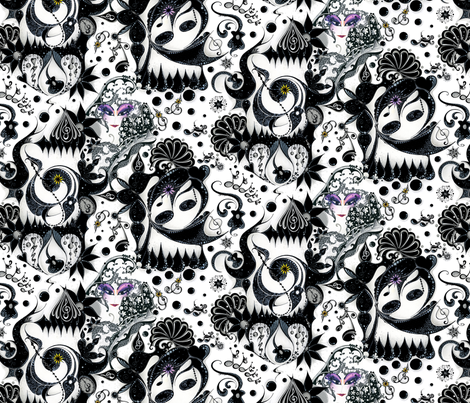 """Music Note Madness  (from """"Face The Music"""" Collection) fabric by nicole_denise_designs on Spoonflower - custom fabric"""