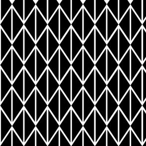 Diamond Chain Black and White