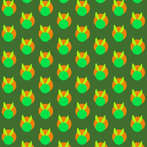 Pumpkin Bunnies fabric by eve_catt_art on Spoonflower - custom fabric