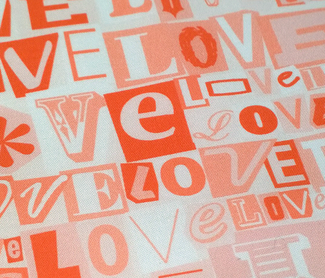 Letters of L-O-V-E (Red)  || valentine valentines day love collage ransom note romance alphabet typography collage photocopy