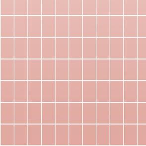 Ombré grid rose