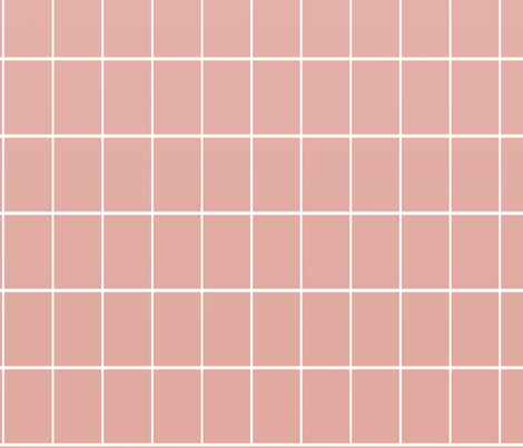 Ombre Grid Wallpaper Rose Fabric By Myracle On Spoonflower