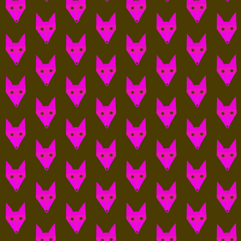 Pink Fox fabric by eve_catt_art on Spoonflower - custom fabric
