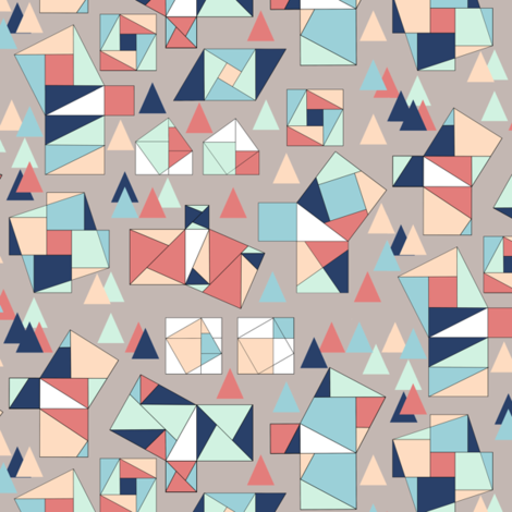 Pictorial Pythagorean Proofs fabric by eclectic_house on Spoonflower - custom fabric
