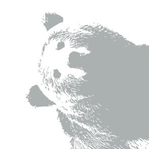 Grey Bear // Minky blanket layout