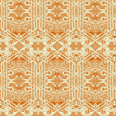 Her Majesty's Paisley Garden fabric by edsel2084 on Spoonflower - custom fabric