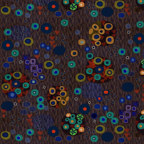 after klimt woman dark jewel