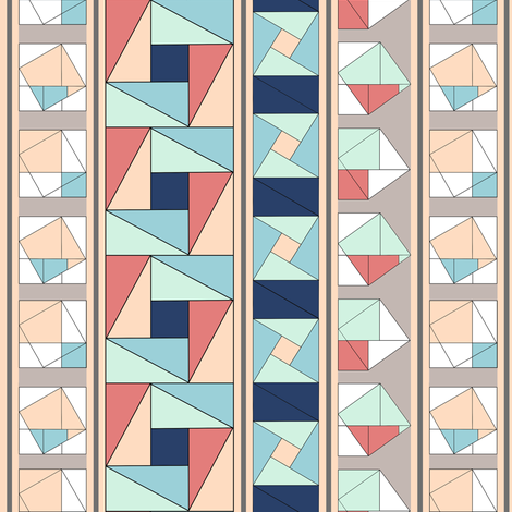 Pythagorean Stripes,Vertical fabric by eclectic_house on Spoonflower - custom fabric
