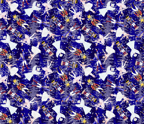 Nutcracker ballet fabric by gabriellemutel on Spoonflower - custom fabric