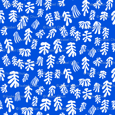 MATISSE–white on blue