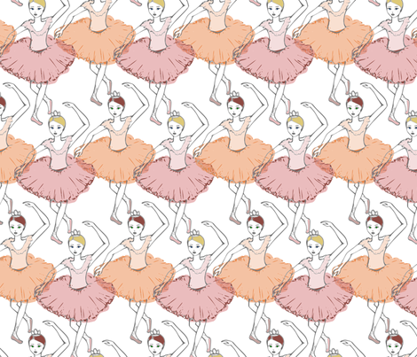 Ballerina Marsala Sorbet fabric by mrshervi on Spoonflower - custom fabric