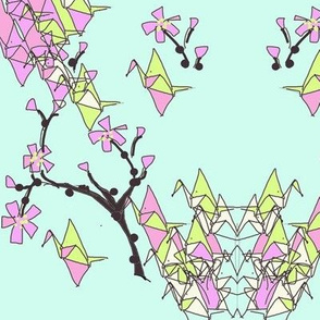 Paper Cranes and Cherry Blossoms