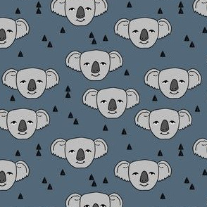 koala // blue koala face cute australian animal zoo animals fabric cute koalas design by andrea lauren