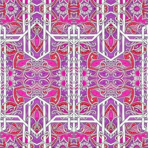 Intersection of Purple, Red, and Magenta