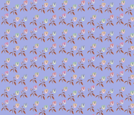 Pansy_Meadow_II_Periwinkle fabric by thistleandfox on Spoonflower - custom fabric