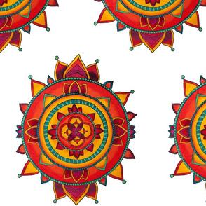 Native Mandala (White)