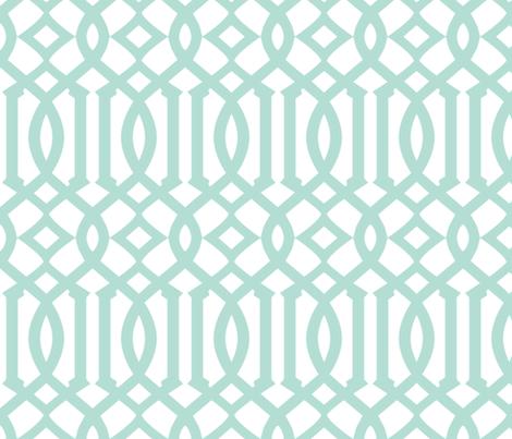 Arabesque Mint fabric by brainsarepretty on Spoonflower - custom fabric