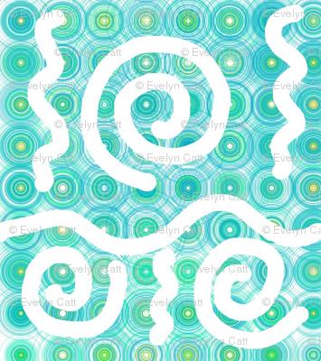 Pastel Curls Aqua