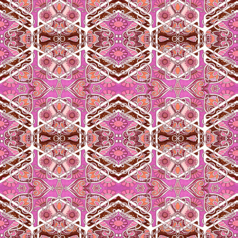 Hearts and Flower Twins fabric by edsel2084 on Spoonflower - custom fabric