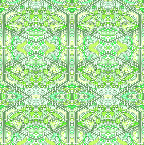 As the World Turns Green fabric by edsel2084 on Spoonflower - custom fabric