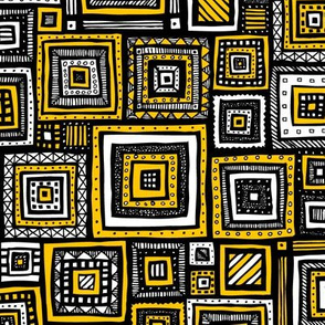 Tribal Squares (Yellow)