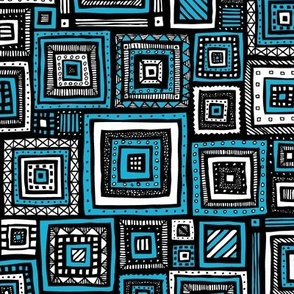 Tribal Squares (Blue)