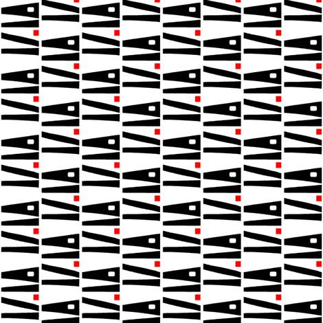 Almost Alligators Black White Red fabric by eve_catt_art on Spoonflower - custom fabric