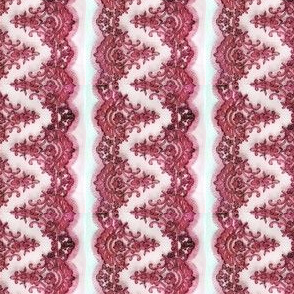 Pink Lace Border on White