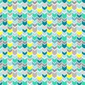 teal gray yellow chevron half scale wallpaper mrshervi spoonflower