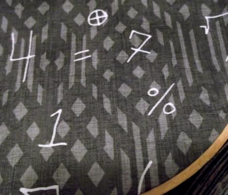 Math Symbols on Chalkboard