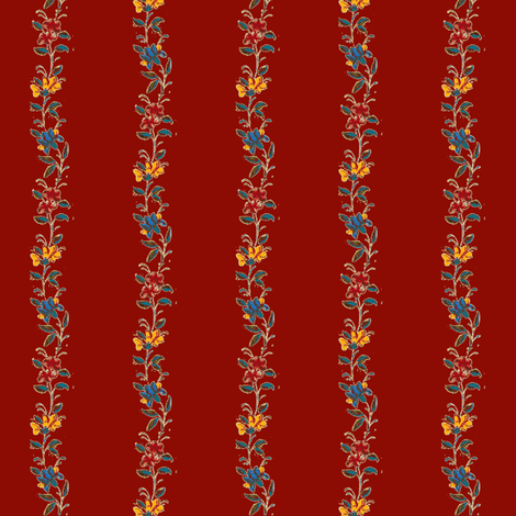 Beckford Red fabric by amyvail on Spoonflower - custom fabric