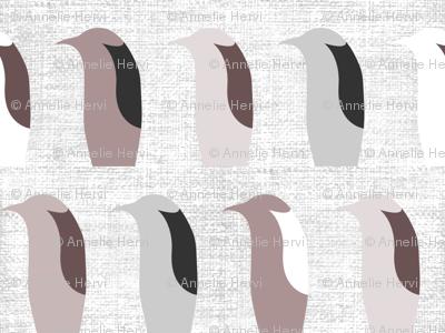 Mod Penguins On Linen