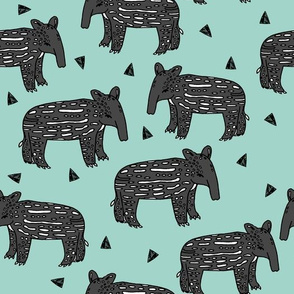 tapir // baby tapir fabric cute animals design