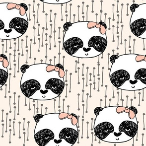 Panda with Bow - Champagne by Andrea Lauren