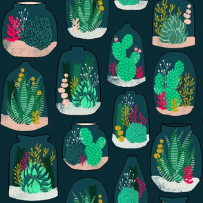 terrariums // plants houseplants cactus cacti fabric andrea lauren design