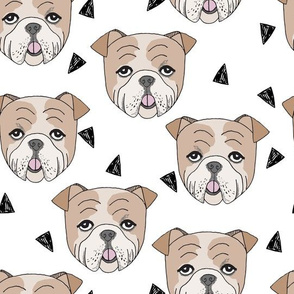english bulldog // bulldogs white dog breed fabric cute dogs best dog fabric