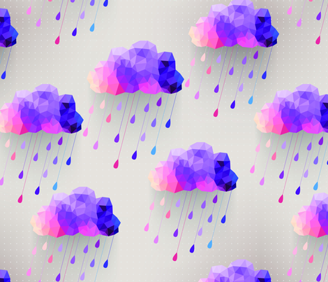 Gray Acid Rain Clouds fabric by littlefancypants on Spoonflower - custom fabric