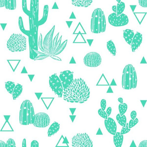 cactus // cacti geo triangle kids summer tropical exotic