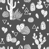 cactus // charcoal geo triangles tri