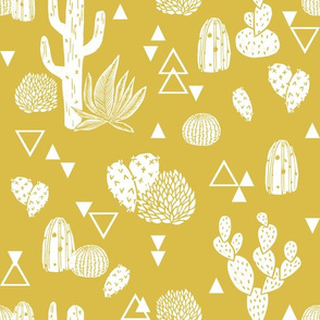 cactus // cacti mustard kids summer tropical prints
