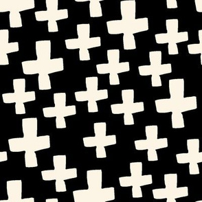 Swiss Crosses - Black and Champagne