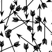 arrows scattered // black and white minimal cool trendy scandi kids nursery baby print