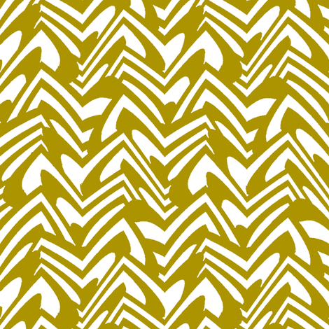 scalloped chevron in bronze fabric by weavingmajor on Spoonflower - custom fabric