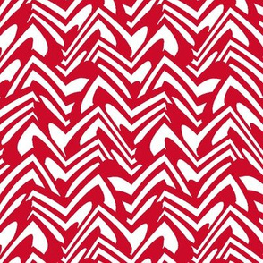 candy cane chevron - peppermint
