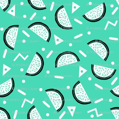Watermelon Party - Light Jade/Black/White by Andrea Lauren