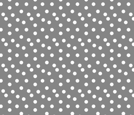 Polka Dot - Medium Grey by Andrea Lauren fabric by andrea_lauren on Spoonflower - custom fabric